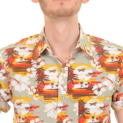 Foto van Overhemd met korte mouw retro sunset hawaiian