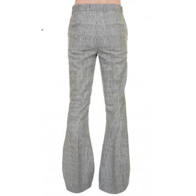 Foto van Pantalon met wijde pijp, grijs geruit