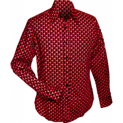Overhemd retro, 3 d grid red