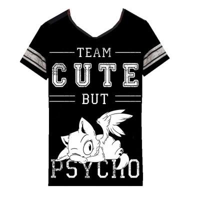 Foto van T-shirt Cute But Psycho, zwart