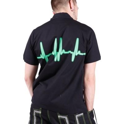 Foto van Overhemd met groene Heartbeat Line