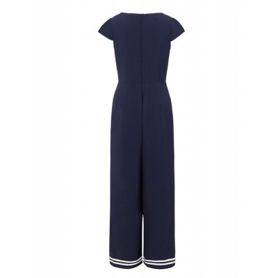 Foto van Voodoo Vixen | Jumpsuit Jolene, navy nautical