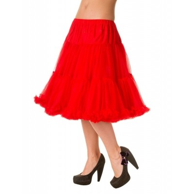 Foto van Petticoat Starlite over de knie met extra volume, rood
