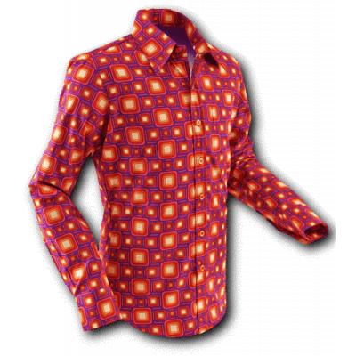Overhemd Seventies Tube Violet