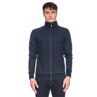 Vest Toni, ruitjespatroon, blauw bruin rood