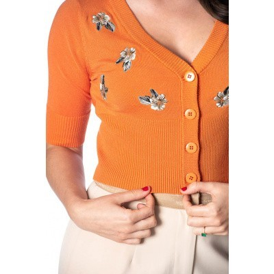 Foto van Cardigan Tiki Floral, oranje