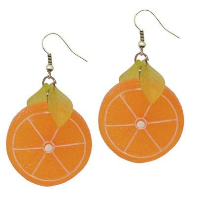 Foto van Miranda's Choice - Oorbellen met sinaasappel schijfjes