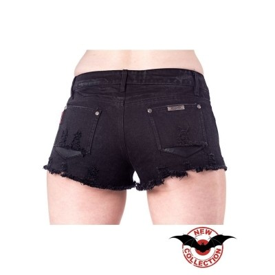 Foto van Hotpants Used Look with Rivets and Skulls