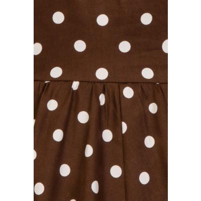 Foto van Kinderjurk Ravishing chocolade, bruin met polkadots