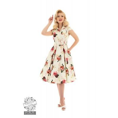 Foto van Hearts & Roses - Swing jurk Delilah bloemen print