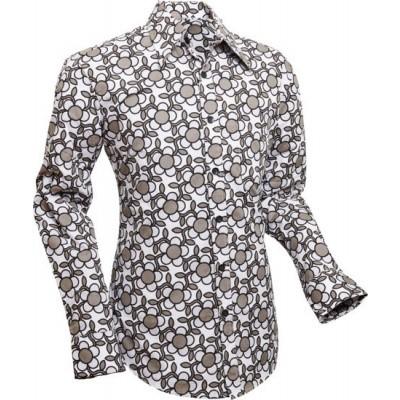 Foto van Overhemd Seventies Flowergrid, grey