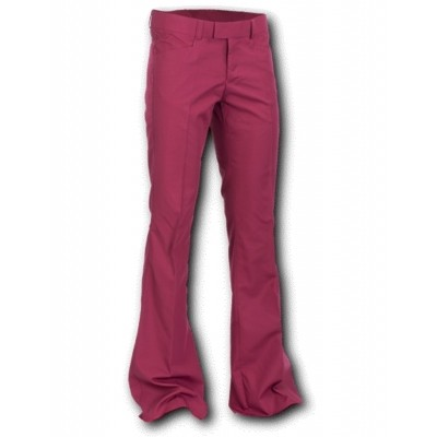 Pantalon met uitlopende pijp, Bordeaux