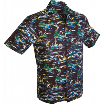 Overhemd korte mouw, Swordfish bruin