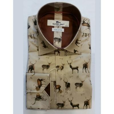 Overhemd Herten print
