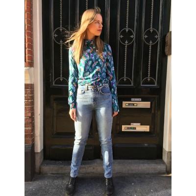 Foto van Ato Berlin - Taille hoge jeans Khloe, met lichte used wassing