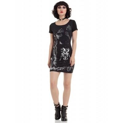 Foto van Jurkje met Siamese tweeling Skelet print