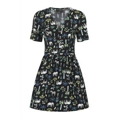 Foto van Mini-jurk Misty Wild Safari, zwart