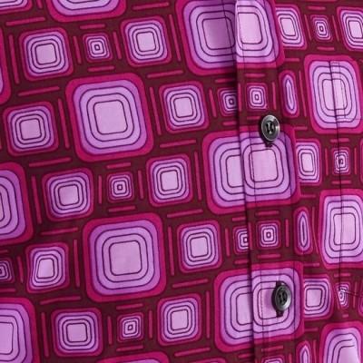 Foto van Overhemd Seventies Tube Bordeaux