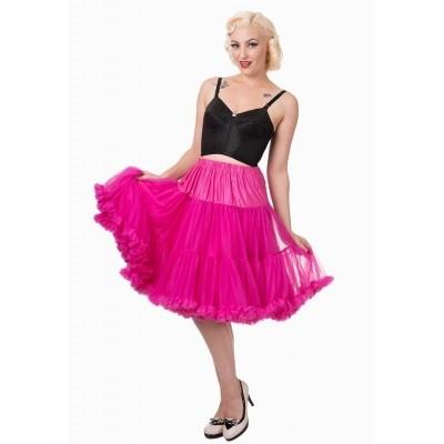 Foto van Petticoat Starlite over de knie met extra volume, hot pink