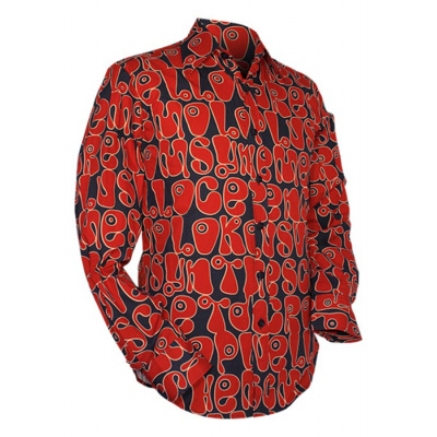 Foto van Chenaski | Navy rood seventies overhemd Moloko