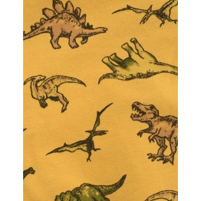 Foto van Jurk Retro Gold Dinosaurus Print