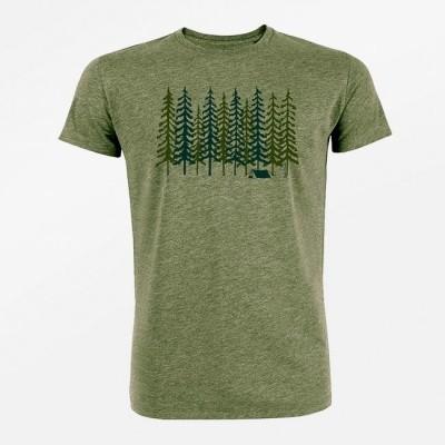 Foto van T-shirt nature Forest, bio katoen mid heather khaki