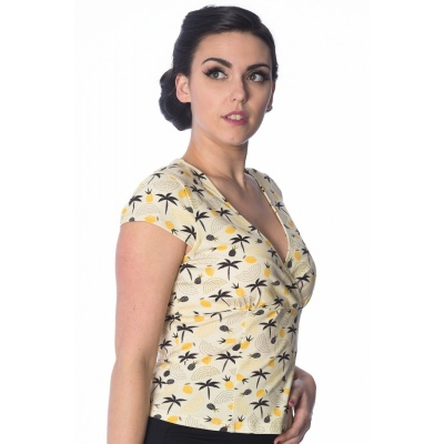 Foto van Top Palm shade omslagmodel met v-hals