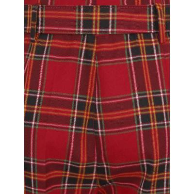 Foto van Collectif | High-waisted rode tartan broek Thea Berry check