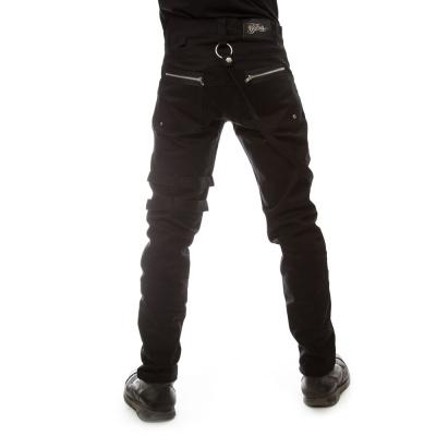 Foto van Vixxsin | Broek Icebreaker Kingsize zwart met ritsen en gespen