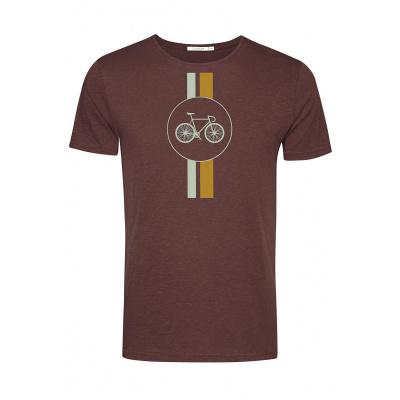 Foto van Green Bomb | T-shirt Bike Highway, dark chocolate bio katoen