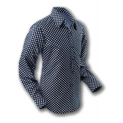 Foto van Overhemd Seventies Polka Dot Black White