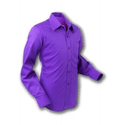 Foto van Overhemd 70s Basic Dark Violet