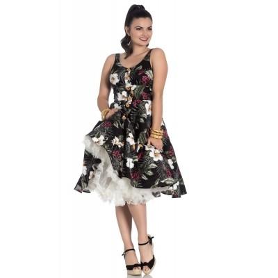 Foto van Jurk Tahiti zwart 50's dress