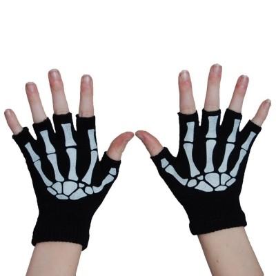 Foto van Handschoenen Vingerloos met Skeletprint
