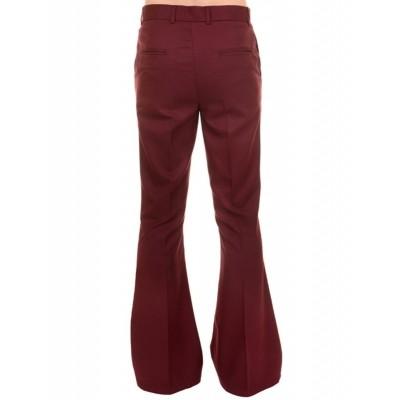Foto van Pantalon 60s 70s wijde pijpen burgundy
