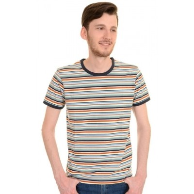 T-shirt retro multi colour striped