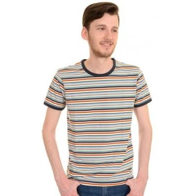Foto van T-shirt retro multi colour striped