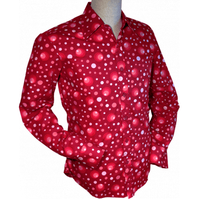 Overhemd Dots and Spots Bordeaux
