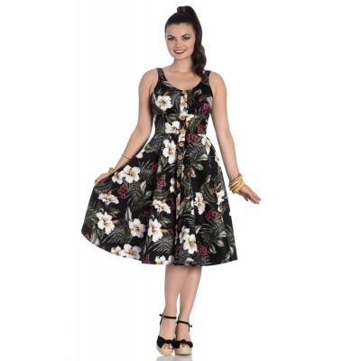 Jurk Tahiti zwart 50's dress
