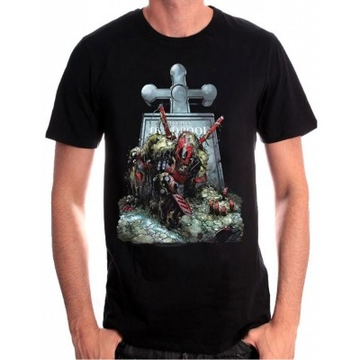 Foto van T-Shirt Deadpool Tombstone