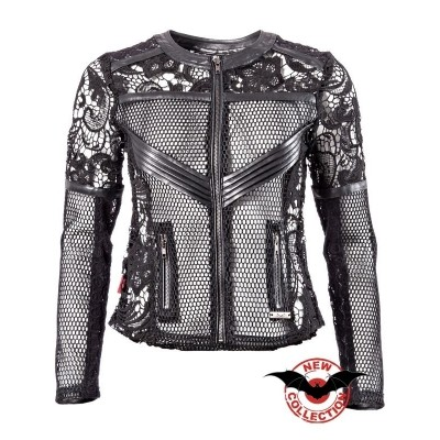 Foto van Jacket Net with lace and imitation Leather