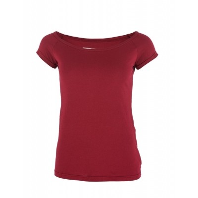 T-Shirt Fini Bordeaux, biologische katoen