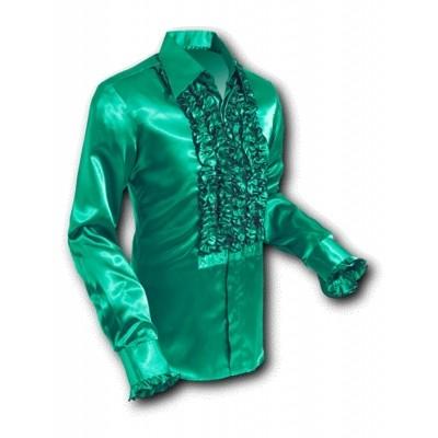 Overhemd Ruche Satin Green