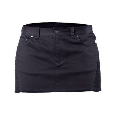 Foto van Skirt Mini Plain Black with Mesh