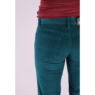 Foto van Ribcord broek met wijde pijp Newton Turquoise