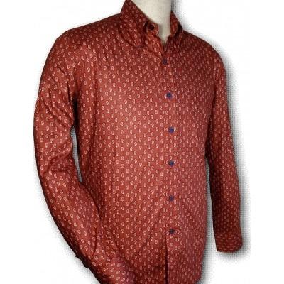 Foto van Overhemd Paisley Red