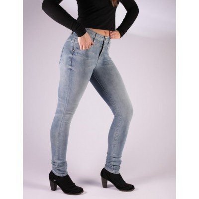Foto van Skinny Jeans Kandy Blauw Used