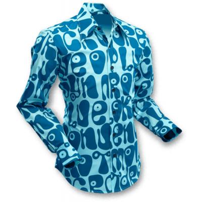 Overhemd Moloko Lichtblauw Petrol