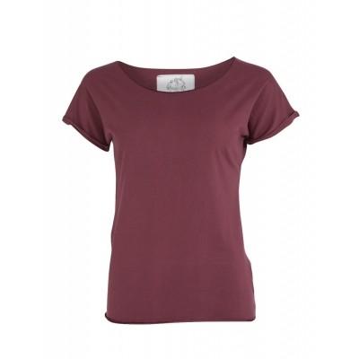 T-Shirt Organic Cleo, aubergine, biologisch katoen