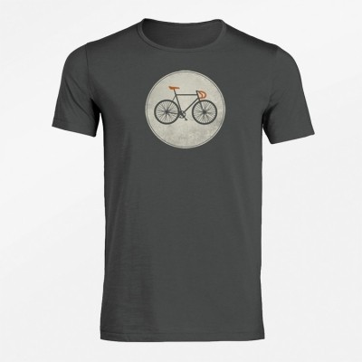 Foto van T-Shirt Bike shield antraciet bio katoen